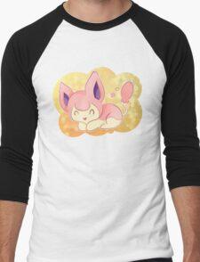Skitty the Kitten Pokemon Men's Baseball ¾ T-Shirt