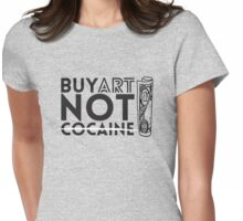 Art > Cocaine Womens Fitted T-Shirt