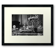 Flamingo Casino Framed Print