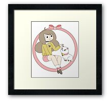 Bee and Puppycat Framed Print