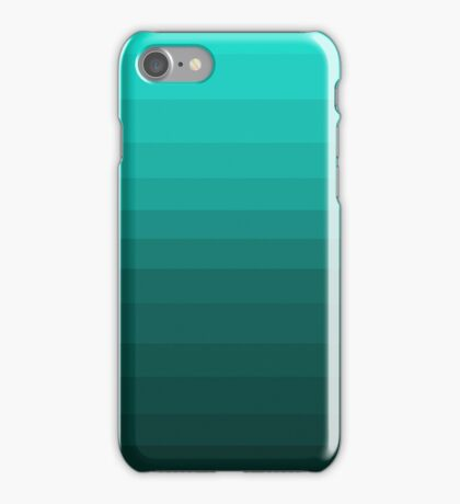 Teals in lines  iPhone Case/Skin