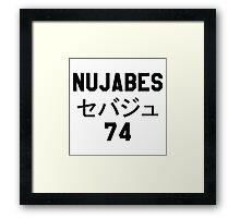 NUJABES 74 RIP Framed Print