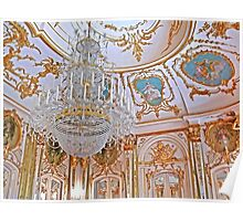 Chandelier. Queluz Palace Poster