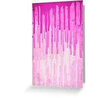 Pink Grunge Color Splatter Graffiti Backstreet Wall Background  Greeting Card