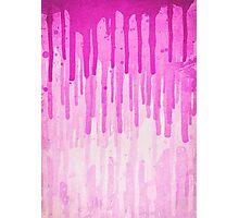 Pink Grunge Color Splatter Graffiti Backstreet Wall Background  Photographic Print