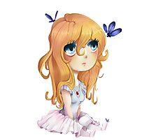 Sweet anime chibi Photographic Print