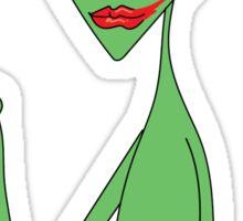 lipstick alien - eyeshadow Sticker