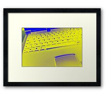 Trippy Keyboard Framed Print