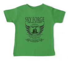 SkyForge - Where Legends Are Born In Steel Baby Tee