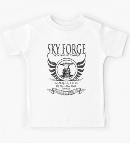 SkyForge - Where Legends Are Born In Steel Kids Tee