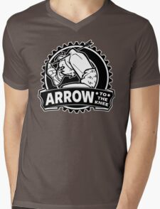 Arrow To The Knee Mens V-Neck T-Shirt