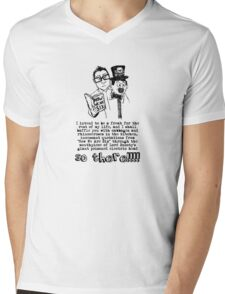 I shall baffle you with cabbages and rhinoceroses in the kitchen Mens V-Neck T-Shirt