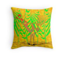 Abstract Bird In The Foliage Throw Pillow
