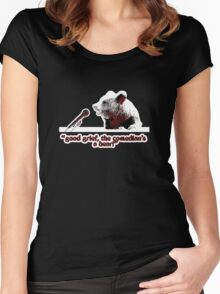 Good grief, the comedian's a bear! Women's Fitted Scoop T-Shirt