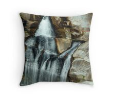 Upper Whitewater Falls, North Carolina/South Carolinaborder Throw Pillow