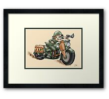 HARLEY STYLE WLA SOLDIER Framed Print