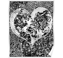 """Love Yourself"" Heart shaped world, Ink 1990 Poster"
