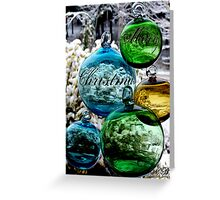 Glass Globes: View of the World - Merry Christmas Greeting Card