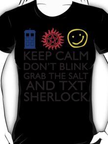 SUPERWHOLOCK SUPERNATURAL DOCTOR WHO SHERLOCK T-Shirt