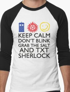 SUPERWHOLOCK SUPERNATURAL DOCTOR WHO SHERLOCK Men's Baseball ¾ T-Shirt