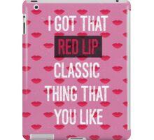 Red Lip Classic iPad Case/Skin