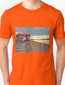 Olbia: port and ferry boat at dawn T-Shirt