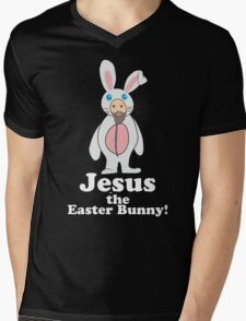 Jesus the Easter Bunny! Mens V-Neck T-Shirt