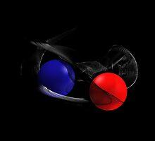 Red Bubble versus Blue Bubble :-) by millotaurus
