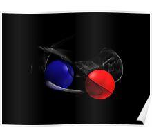 Red Bubble versus Blue Bubble :-) Poster