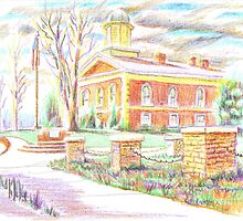 Courthouse in Brigadoon by KipDeVore