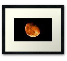 Scrunchy face moon Framed Print