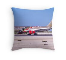 Gulf Air with Spical Paint F1 Throw Pillow
