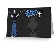 Graff Wrap Around Greeting Card