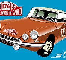 Citroën DS Rallye Monte Carlo 1959 by car2oonz