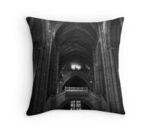 Gothic Hall Throw Pillow