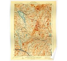 Maine USGS Historical Map Dixfield 807468 1929 62500 Poster
