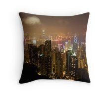 Hong Kong Colours Throw Pillow