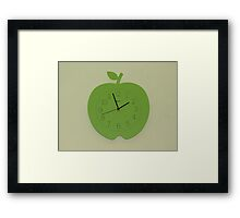 Tick, Tock - Apple Clock Framed Print