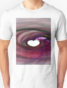 Flaming Heart-Available As Art Prints-Mugs,Cases,Duvets,T Shirts,Stickers,etc T-Shirt