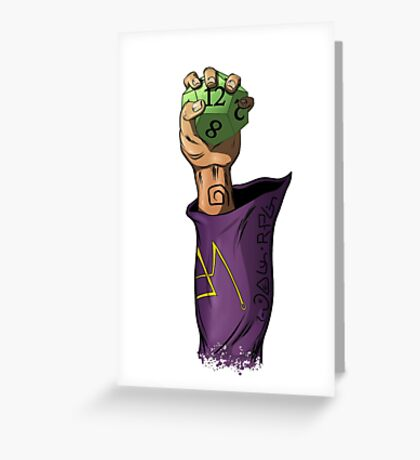 RPG Wizard Greeting Card