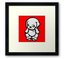 Love Pug Puppy Dog Framed Print