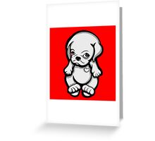 Love Pug Puppy Dog Greeting Card