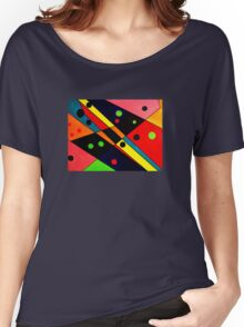 Retro Abstract Women's Relaxed Fit T-Shirt