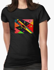 Retro Abstract Womens Fitted T-Shirt