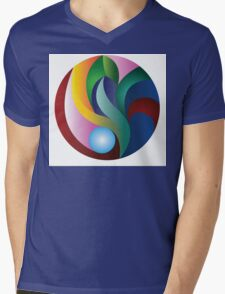 Tulip Mens V-Neck T-Shirt