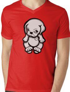 Love Pug Puppy Dog Mens V-Neck T-Shirt