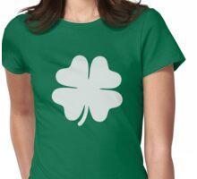 Shamrock clover Womens Fitted T-Shirt