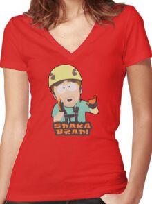 Shaka-brah! Women's Fitted V-Neck T-Shirt