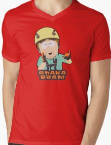 Shaka-brah! Mens V-Neck T-Shirt