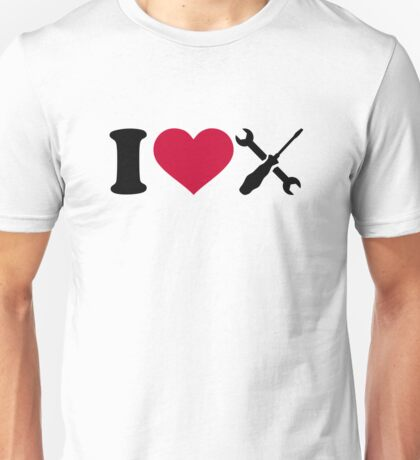 I love screwdriver tools Unisex T-Shirt